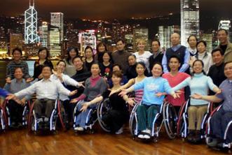 להקת הריקודים על כיסאות גלגלים בהונג קונג